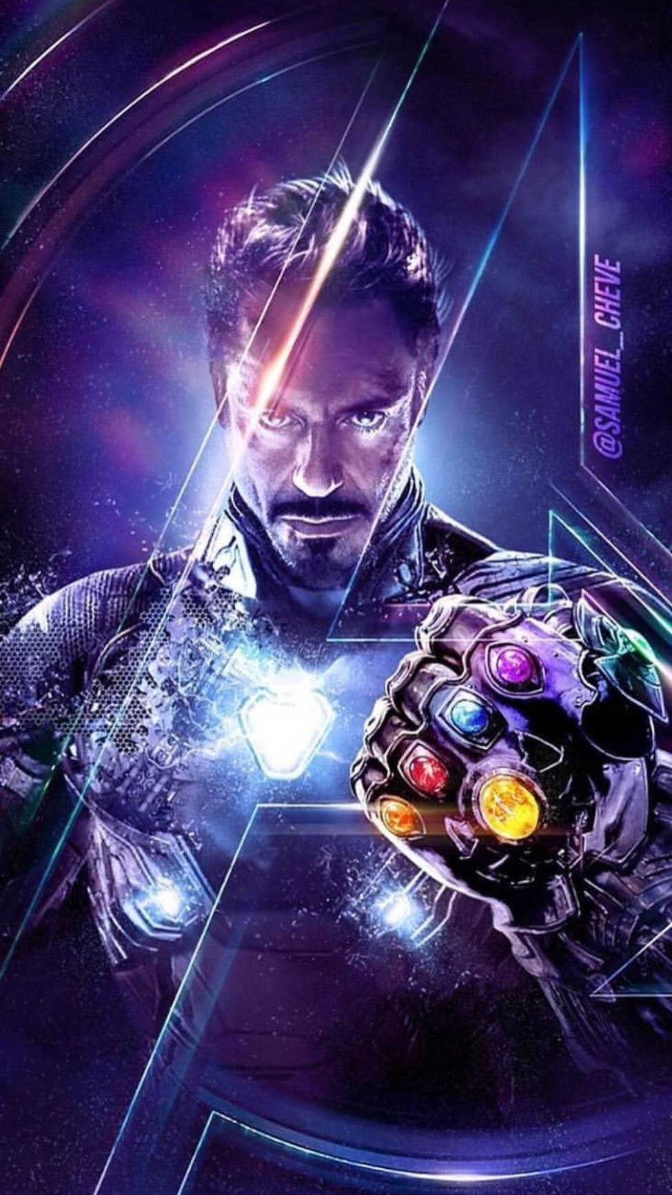 Endgame Tony Stark Infinity Stones iPhone Wallpaper