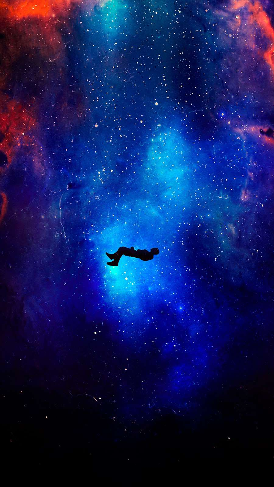 Falling in Space iPhone Wallpaper