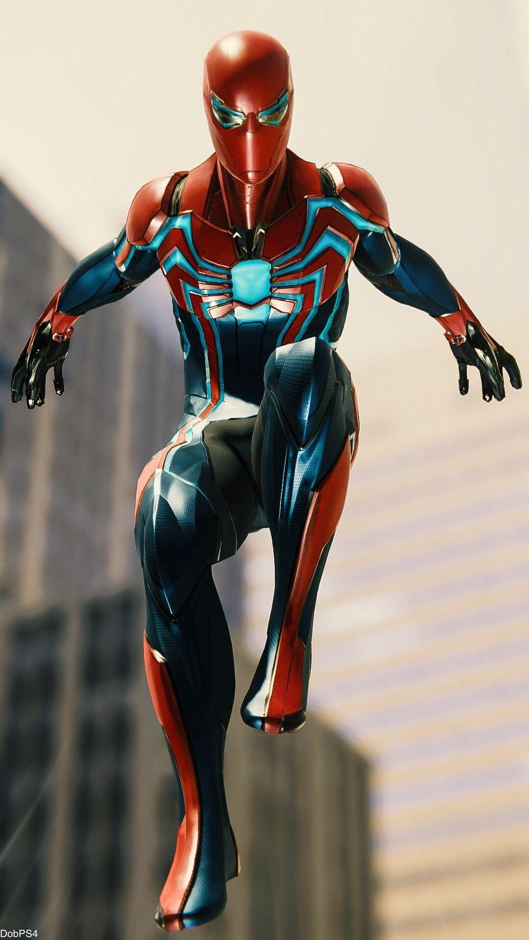 Future Spider Man Armor iPhone Wallpaper