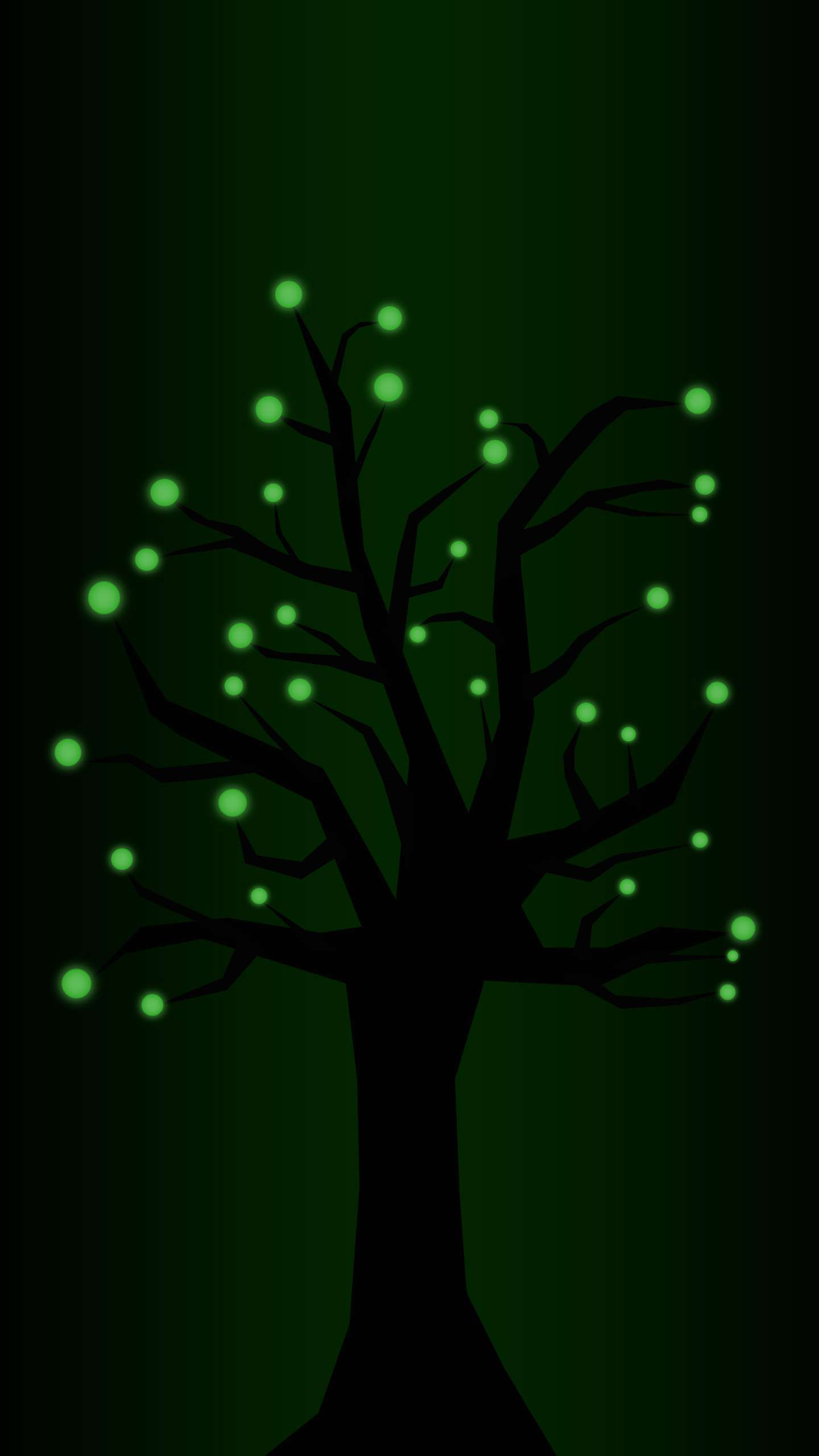 Glinting Tree iPhone Wallpaper