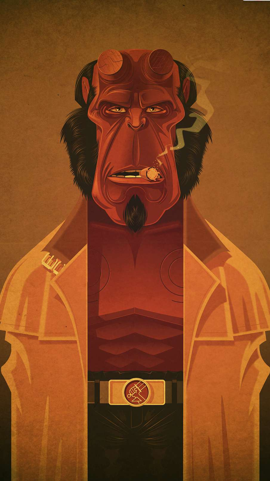 Hellboy Art iPhone Wallpaper