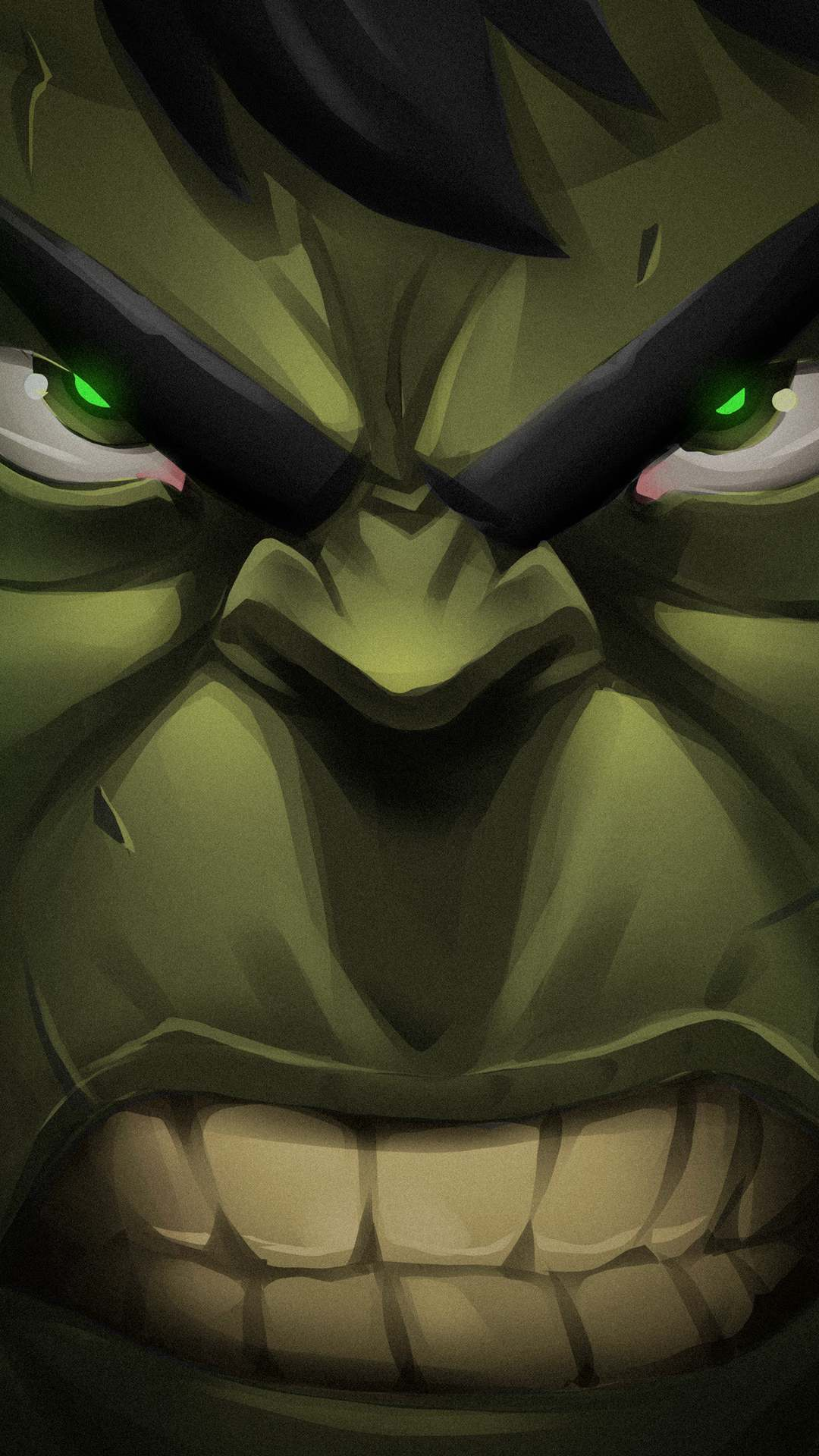 Hulk Face iPhone Wallpaper