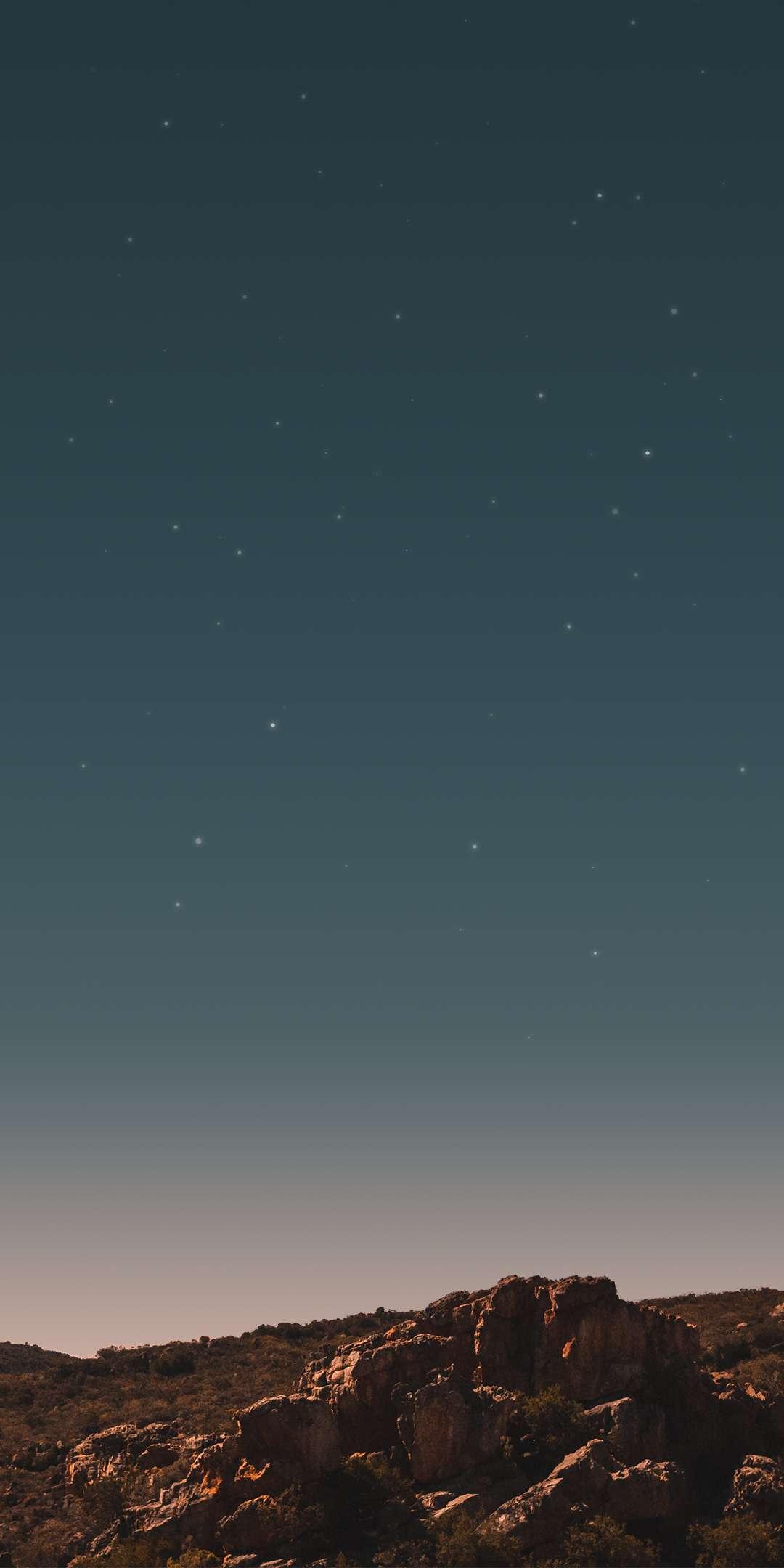 Infinity Display Night Sky View iPhone Wallpaper