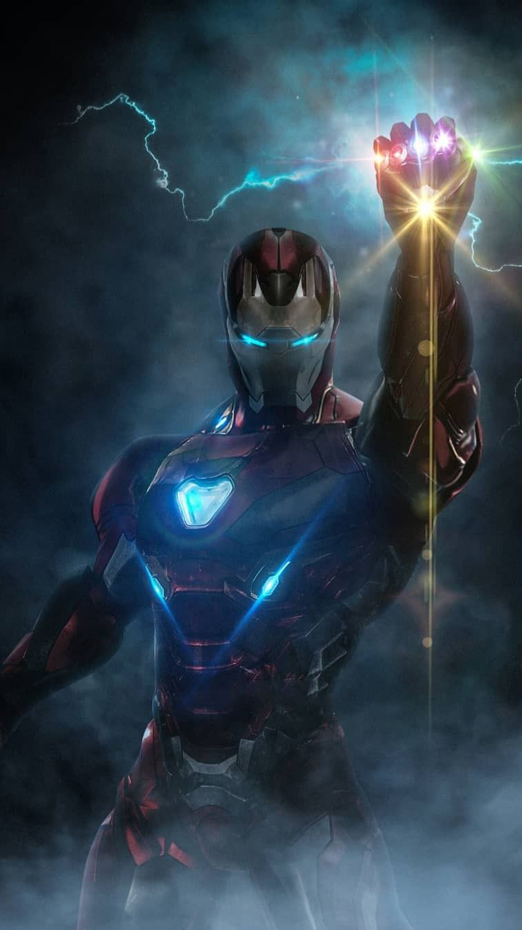 Infinity Stones Iron Man Armor iPhone Wallpaper