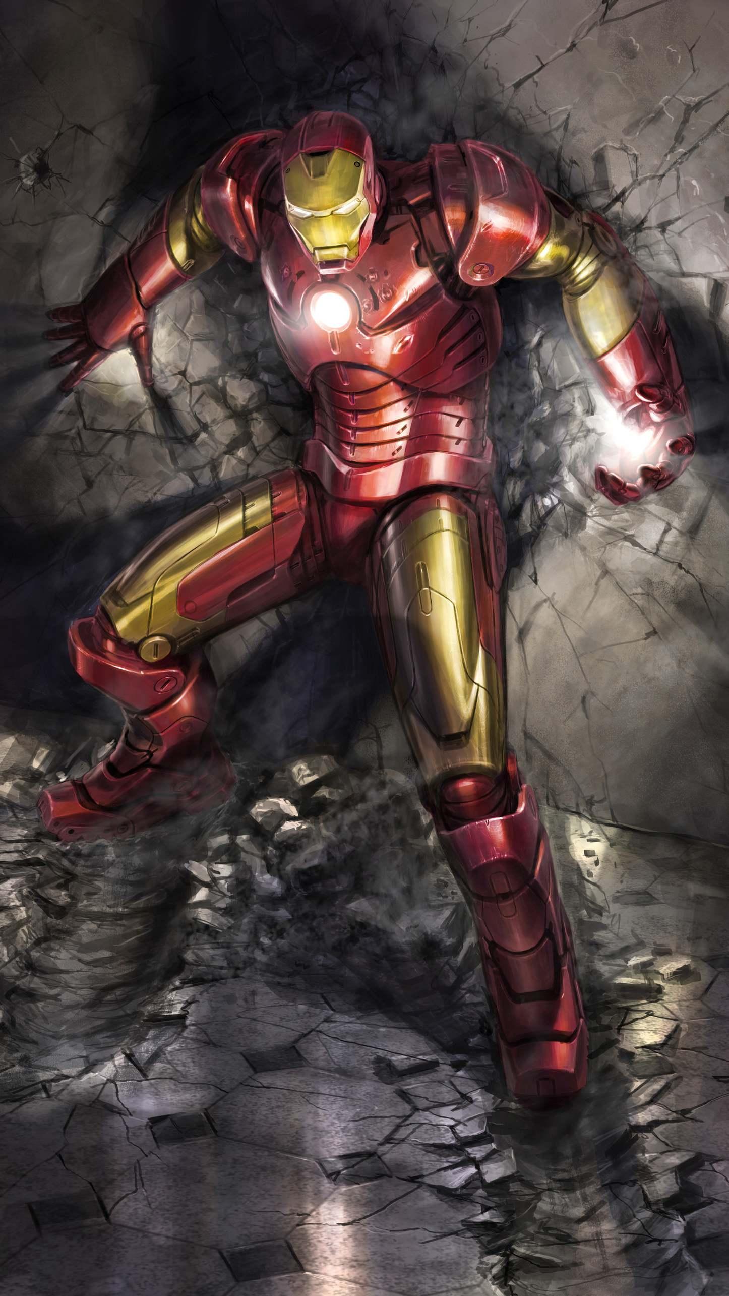 Iron Man Action Art iPhone Wallpaper