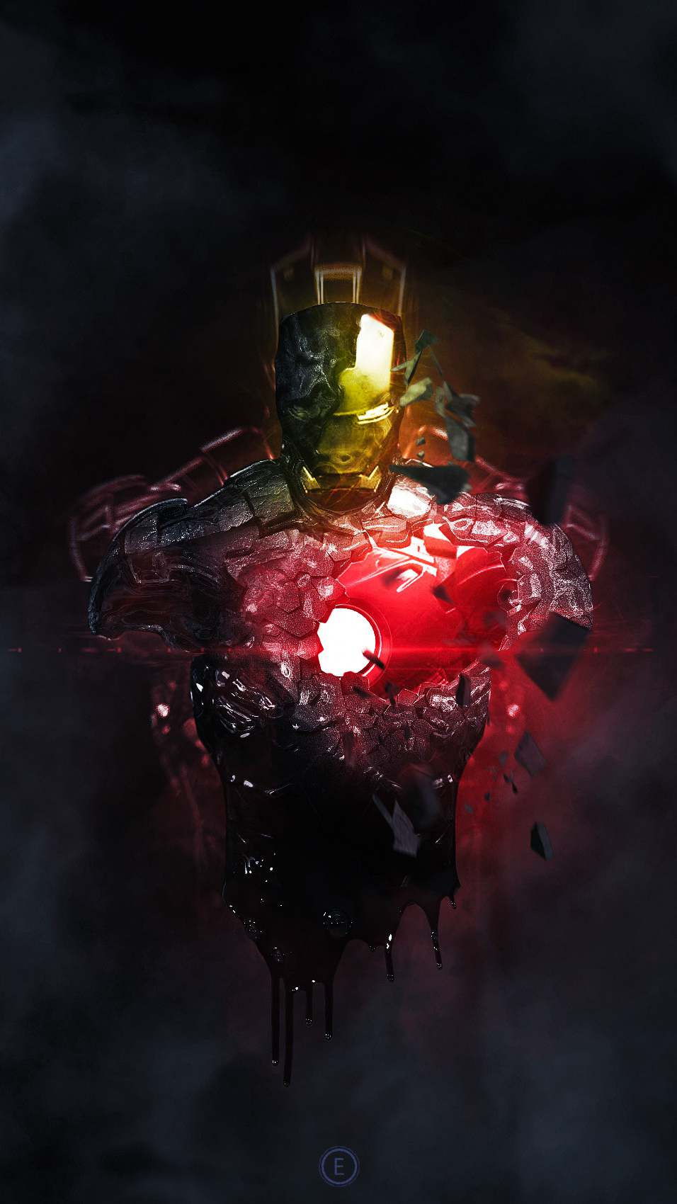 Iron Man Armor Art iPhone Wallpaper