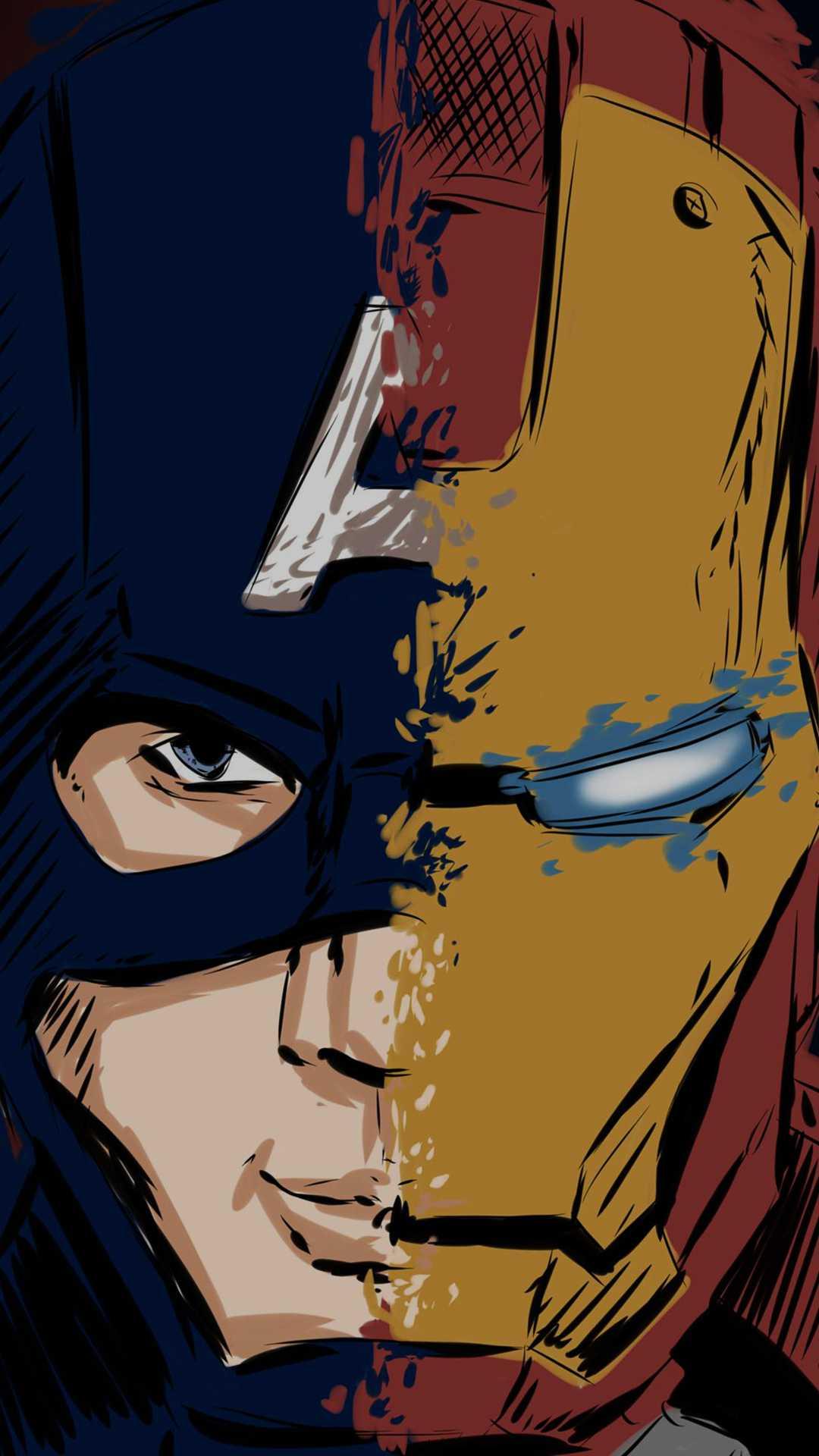 Iron Man Captain America iPhone Wallpaper