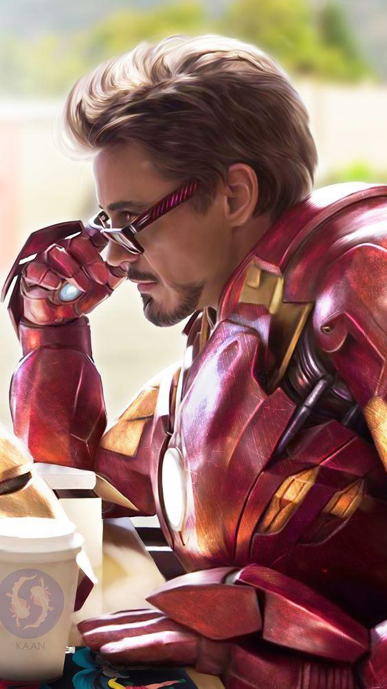 Iron Man Donut Shop iPhone Wallpaper