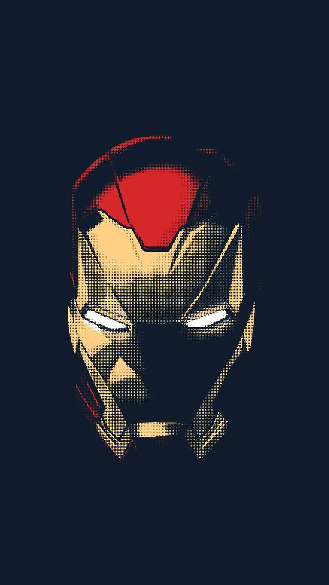 Iron Man Helmet Art iPhone Wallpaper