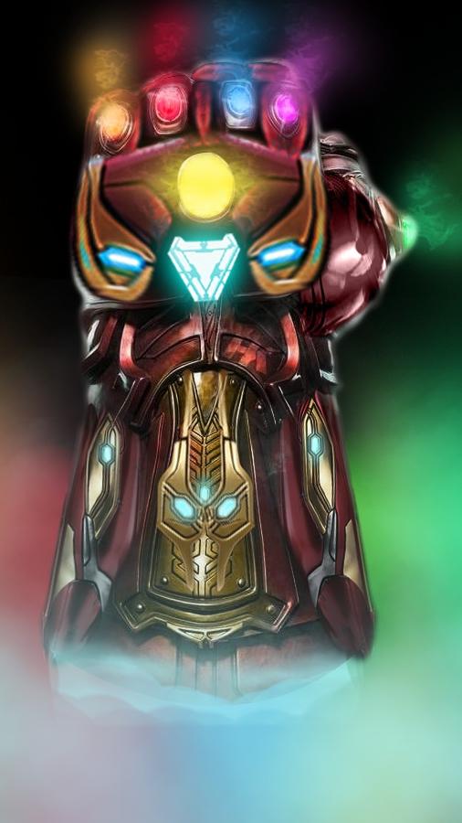 Iron Man Infinity Gauntlet iPhone Wallpaper