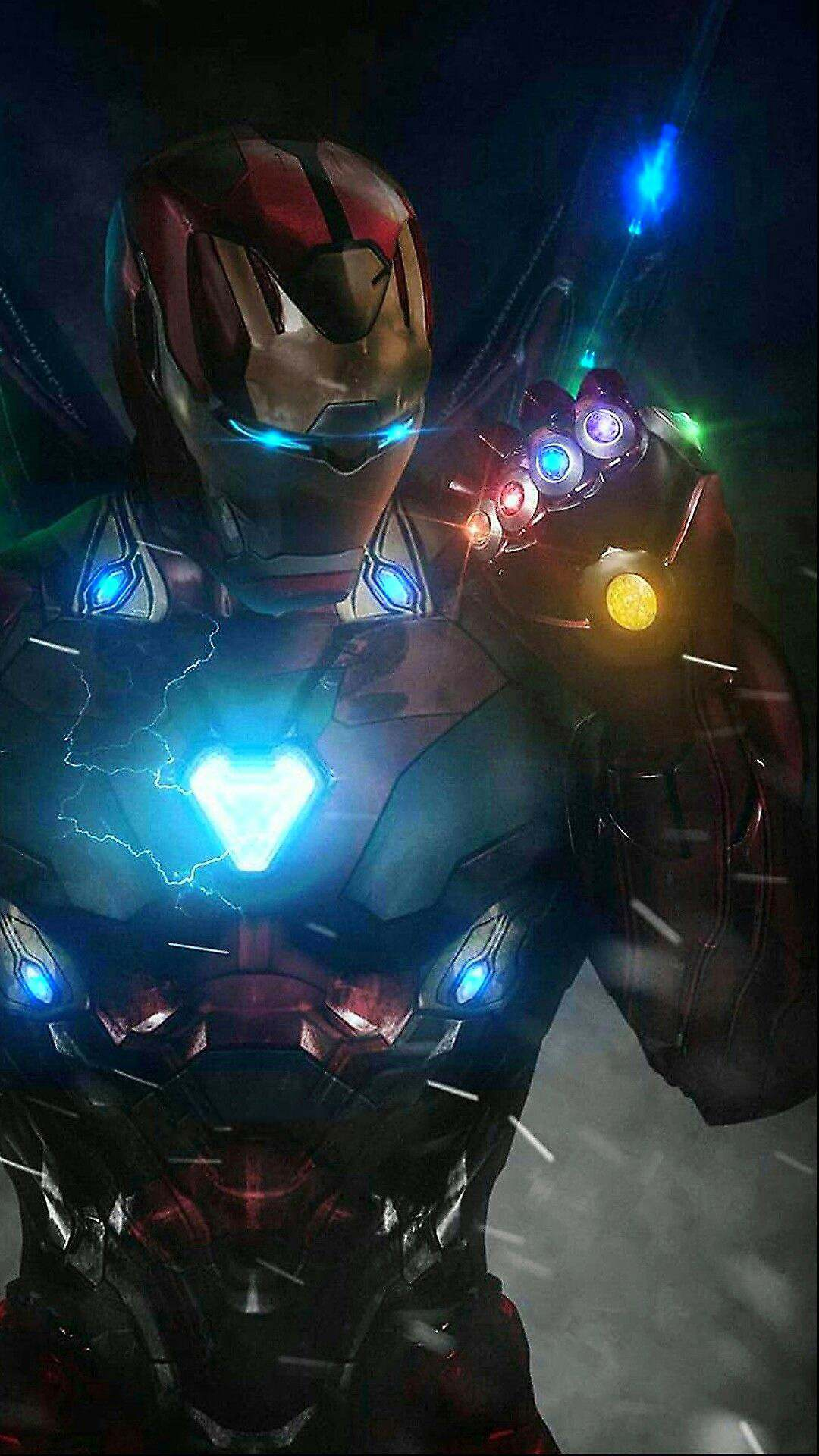 Iron Man Infinity Stones Armor iPhone Wallpaper