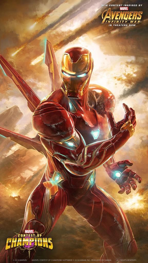 Iron Man Mark 50 Armor Avengers iPhone Wallpaper