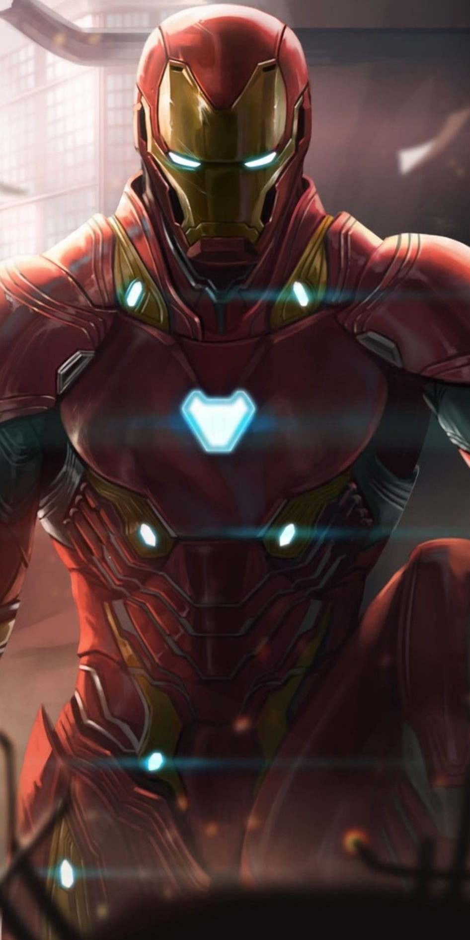 Iron Man Mark Suit Art iPhone Wallpaper