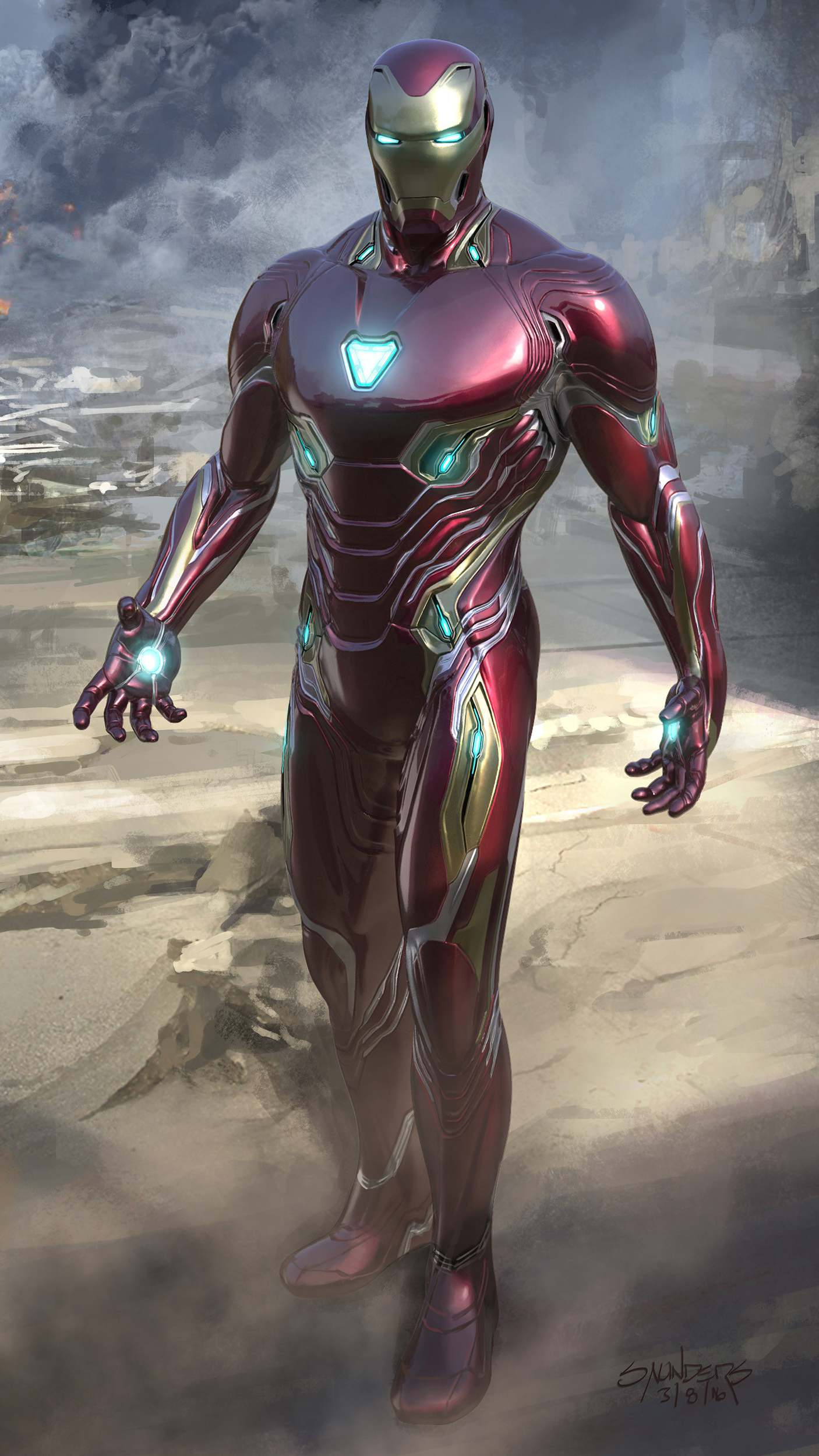 Iron Man Nano Technology Armor iPhone Wallpaper
