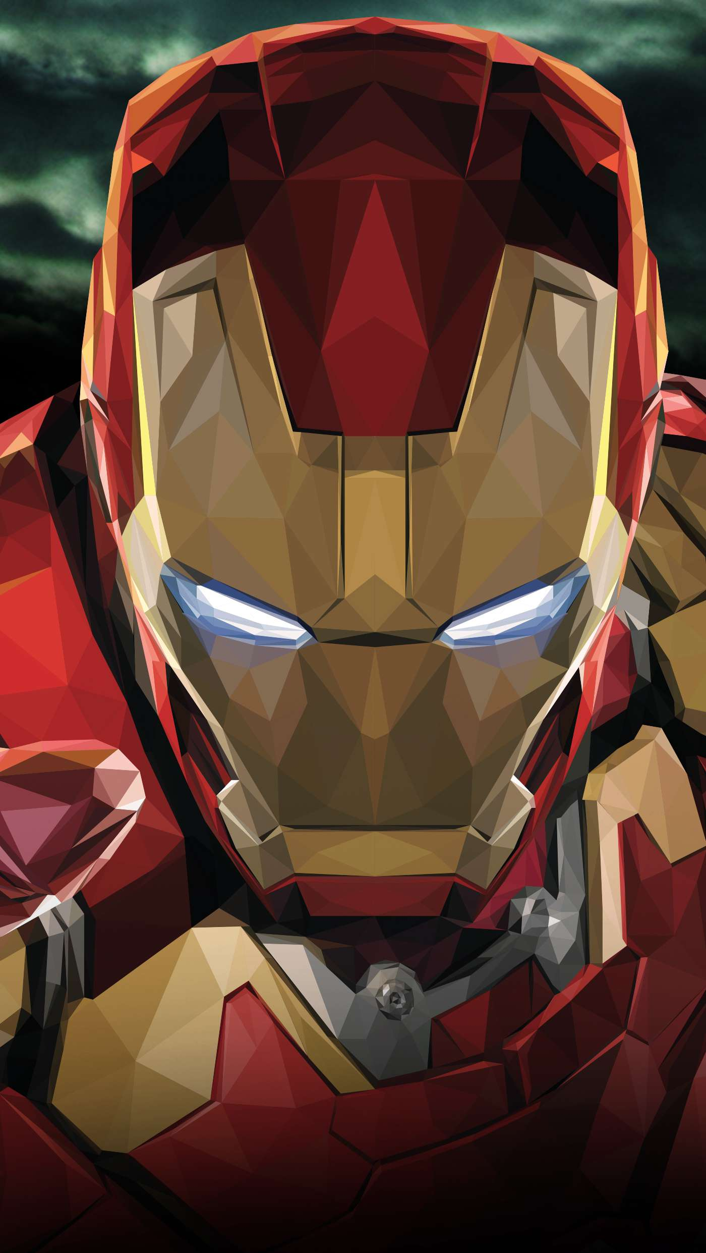 Iron Man Polygon Art iPhone Wallpaper