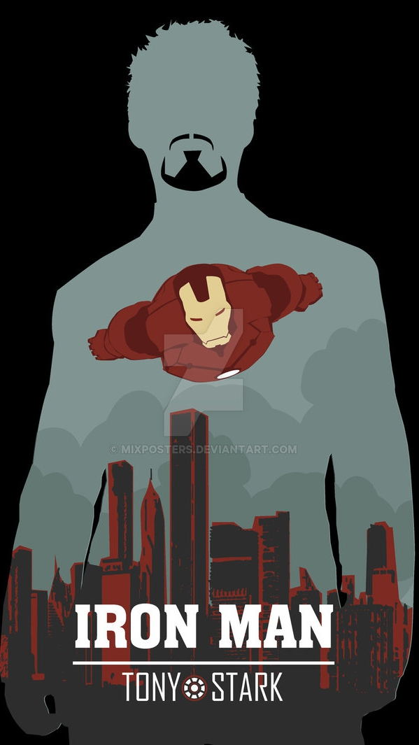 Iron Man Tony Stark Poster iPhone Wallpaper