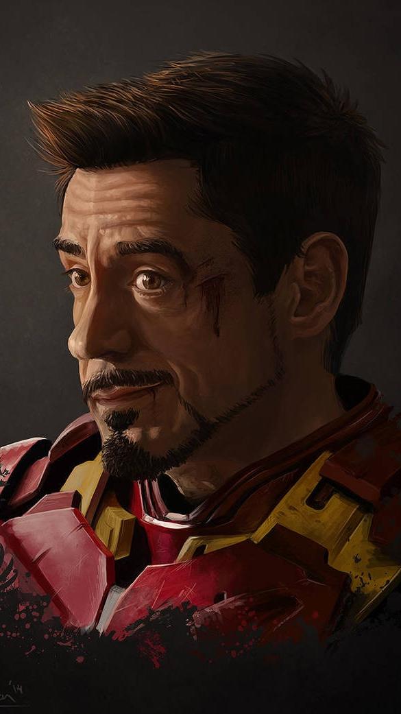 Iron Man Tony Stark Smile iPhone Wallpaper