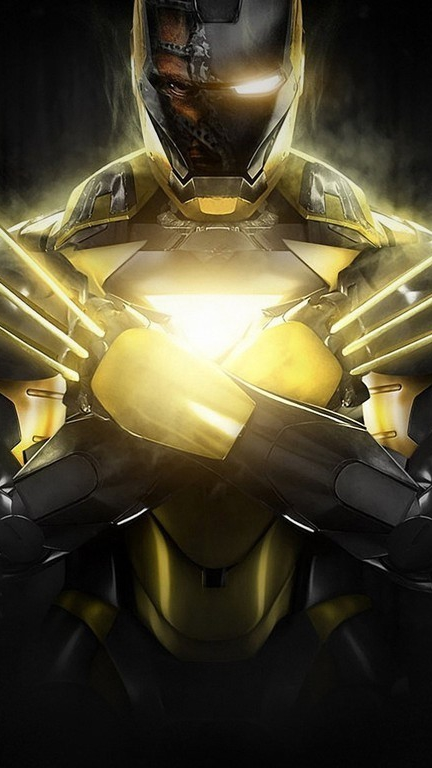 Iron Man X man Armor iPhone Wallpaper