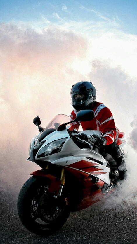 Kawasaki Super Bike Burnout iPhone Wallpaper