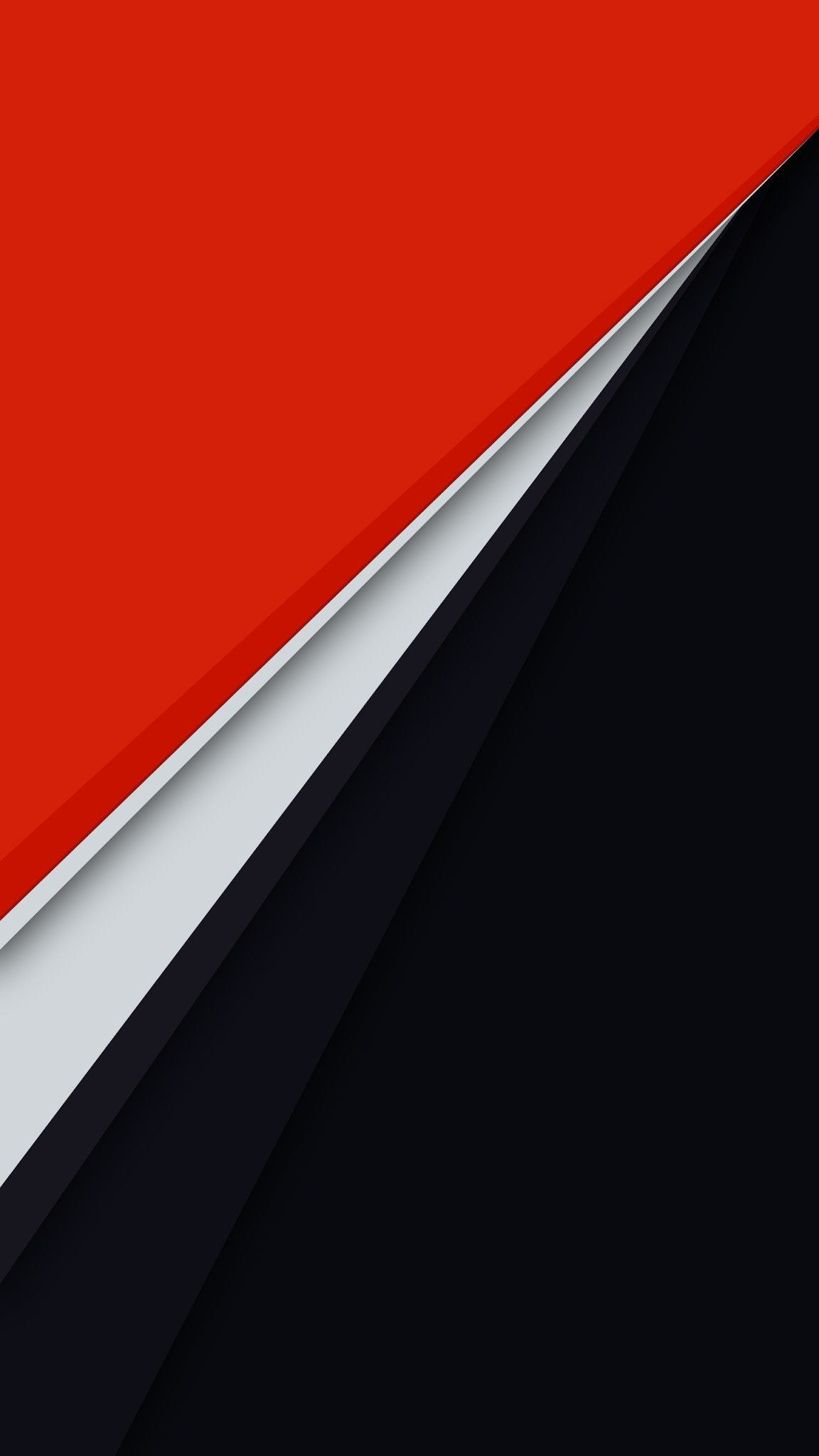 Material Red and Black iPhone Wallpaper