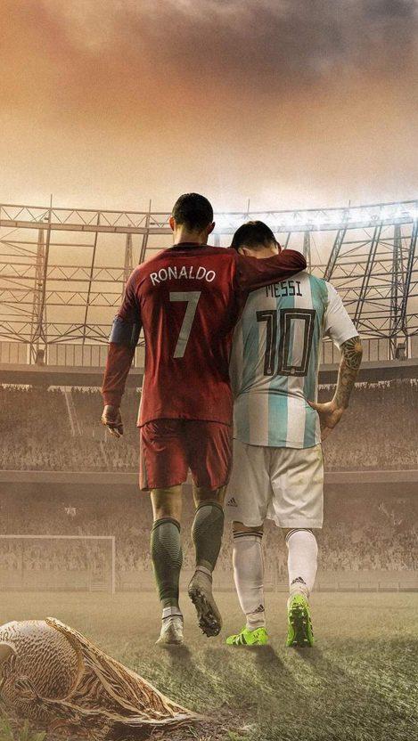 Messi And Ronaldo Football Iphone Wallpaper