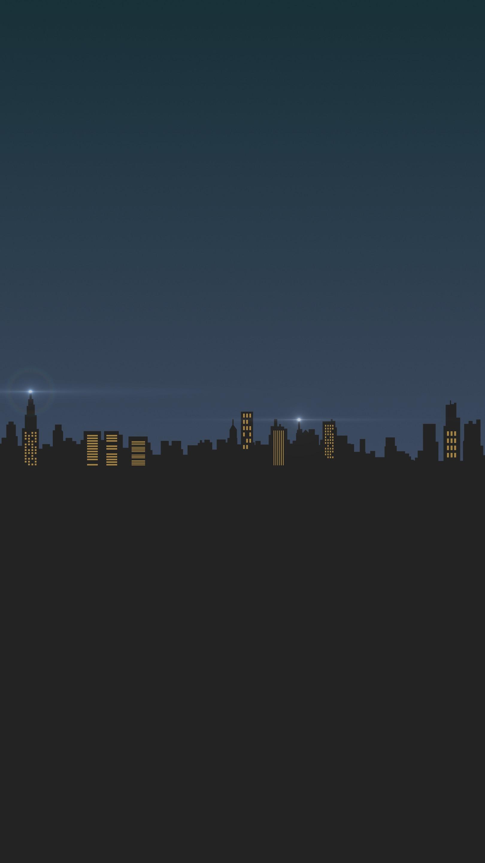 Minimal Dark City iPhone Wallpaper