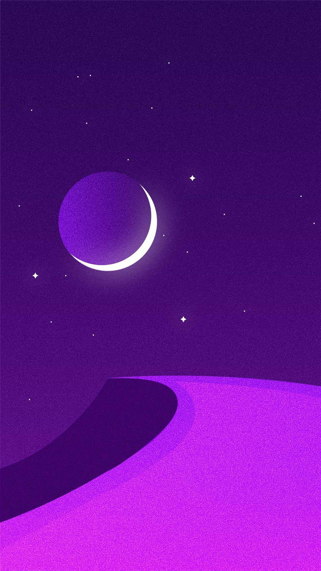 Minimal Moon Art iPhone Wallpaper