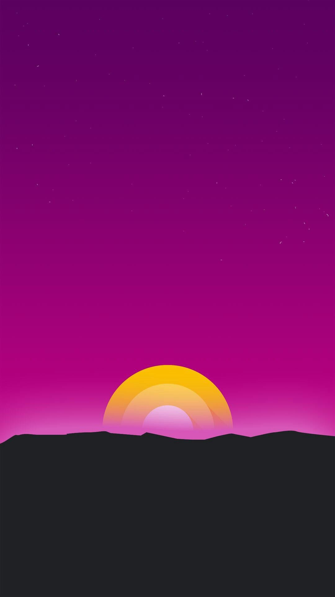 Minimal Sunrise iPhone Wallpaper