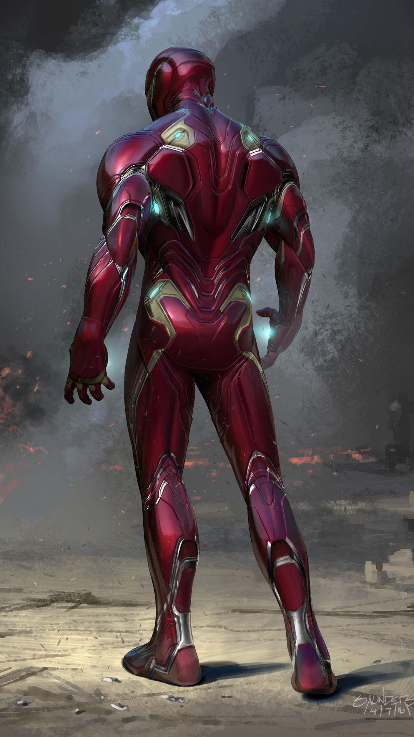 Nano Tech Suit Iron Man iPhone Wallpaper