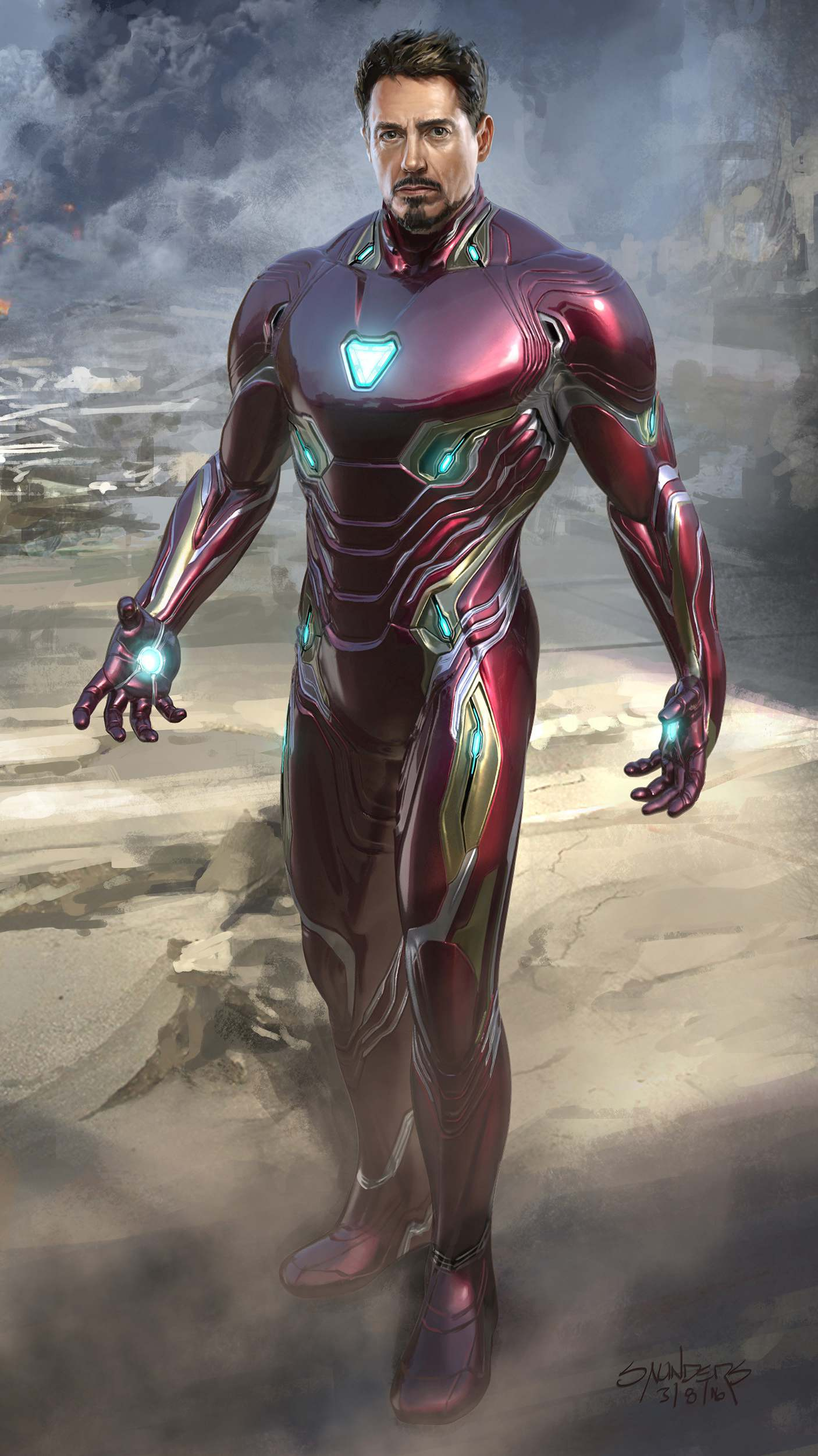 Nano Tech Suit Tony Stark iPhone Wallpaper
