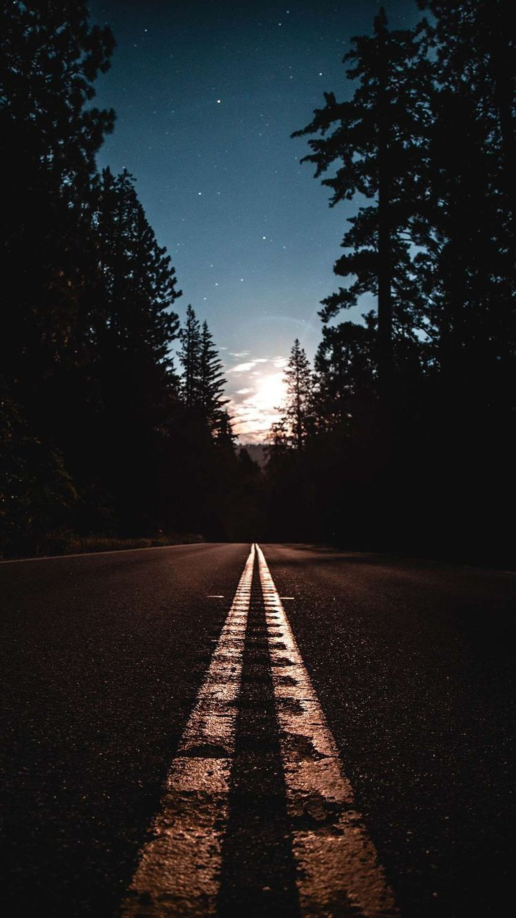 Nature Sunrise Road iPhone Wallpaper