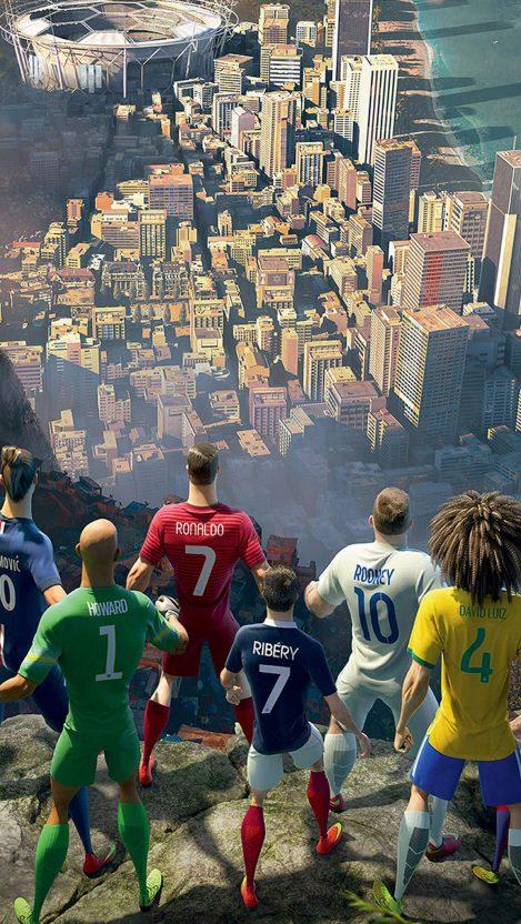 Nike Football Game Brazil iPhone Wallpaper