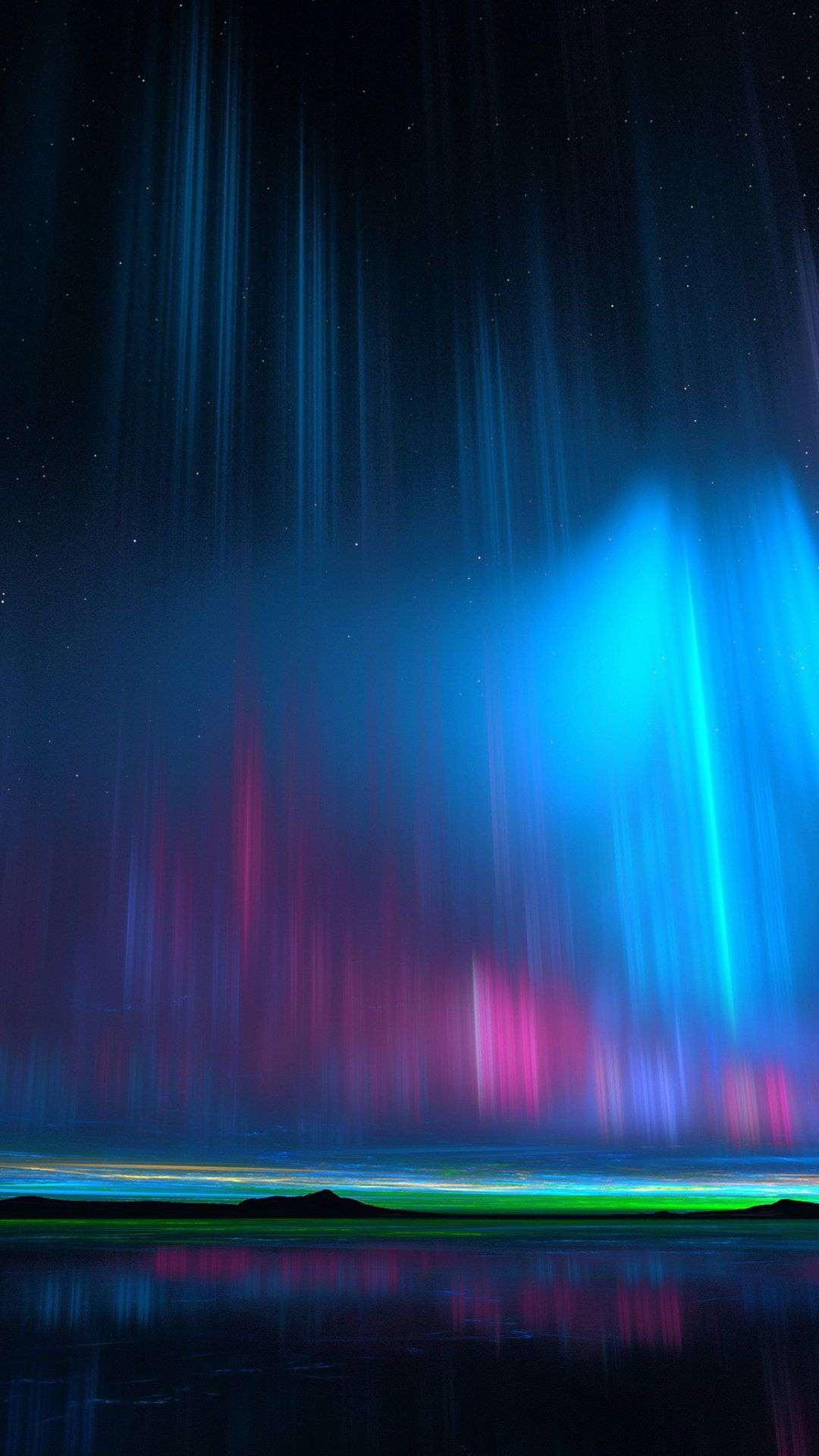 Nothern Lights Night Nature iPhone Wallpaper