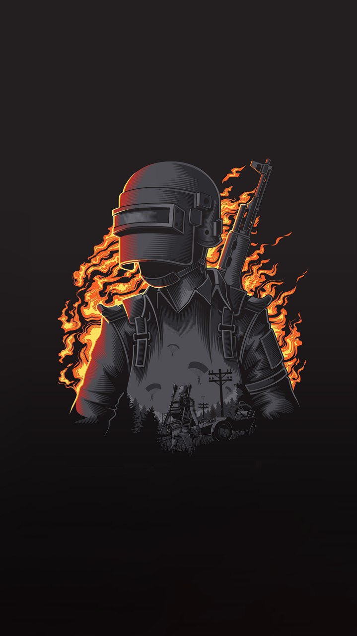 PUBG Art iPhone Wallpaper