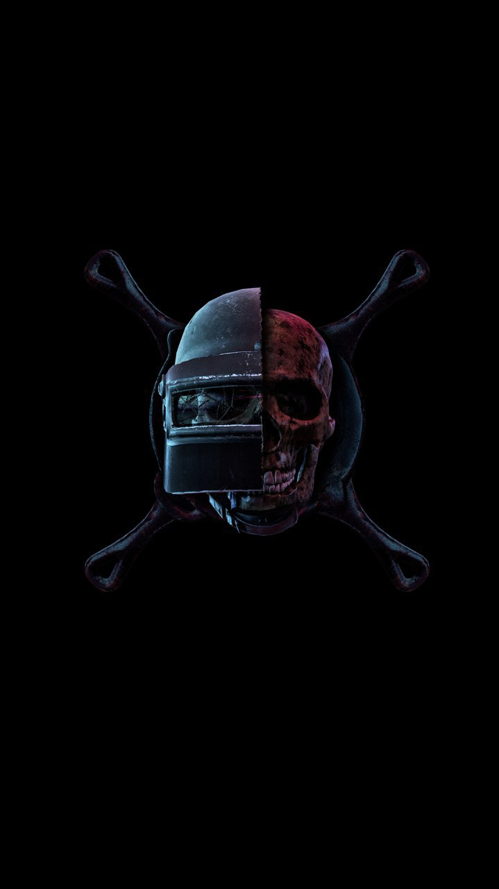 PUBG Helmet Art iPhone Wallpaper