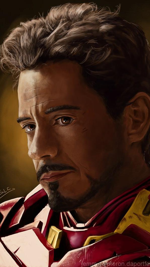 Sad Tony Stark iPhone Wallpaper