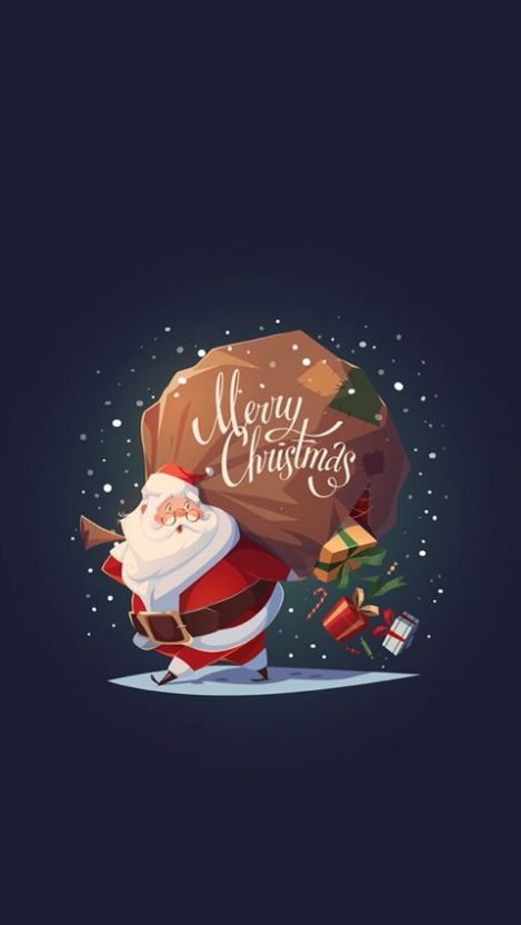 Santa Merry Christmas iPhone Wallpaper
