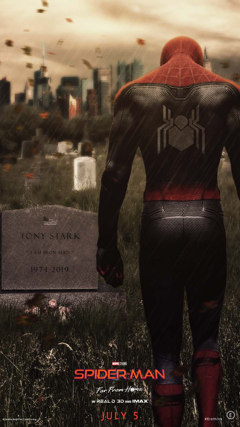 Spider Man Missing Stan Lee iPhone Wallpaper