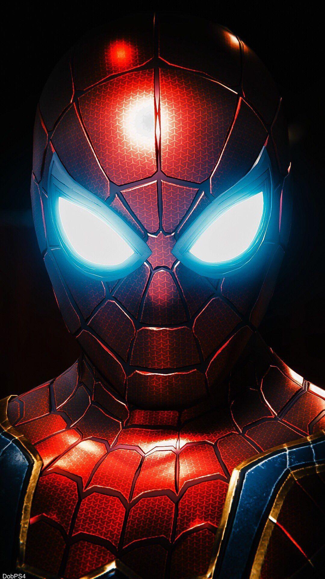 Spider Man Nano Armor iPhone Wallpaper
