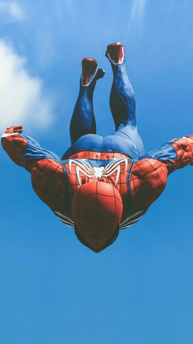 Spider Man Sky Fall iPhone Wallpaper
