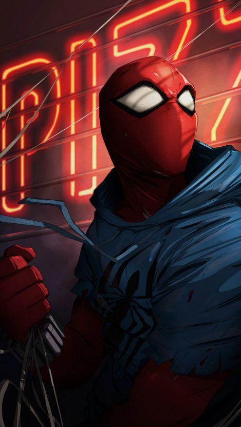 Spider Man Spider Verse Movie iPhone Wallpaper
