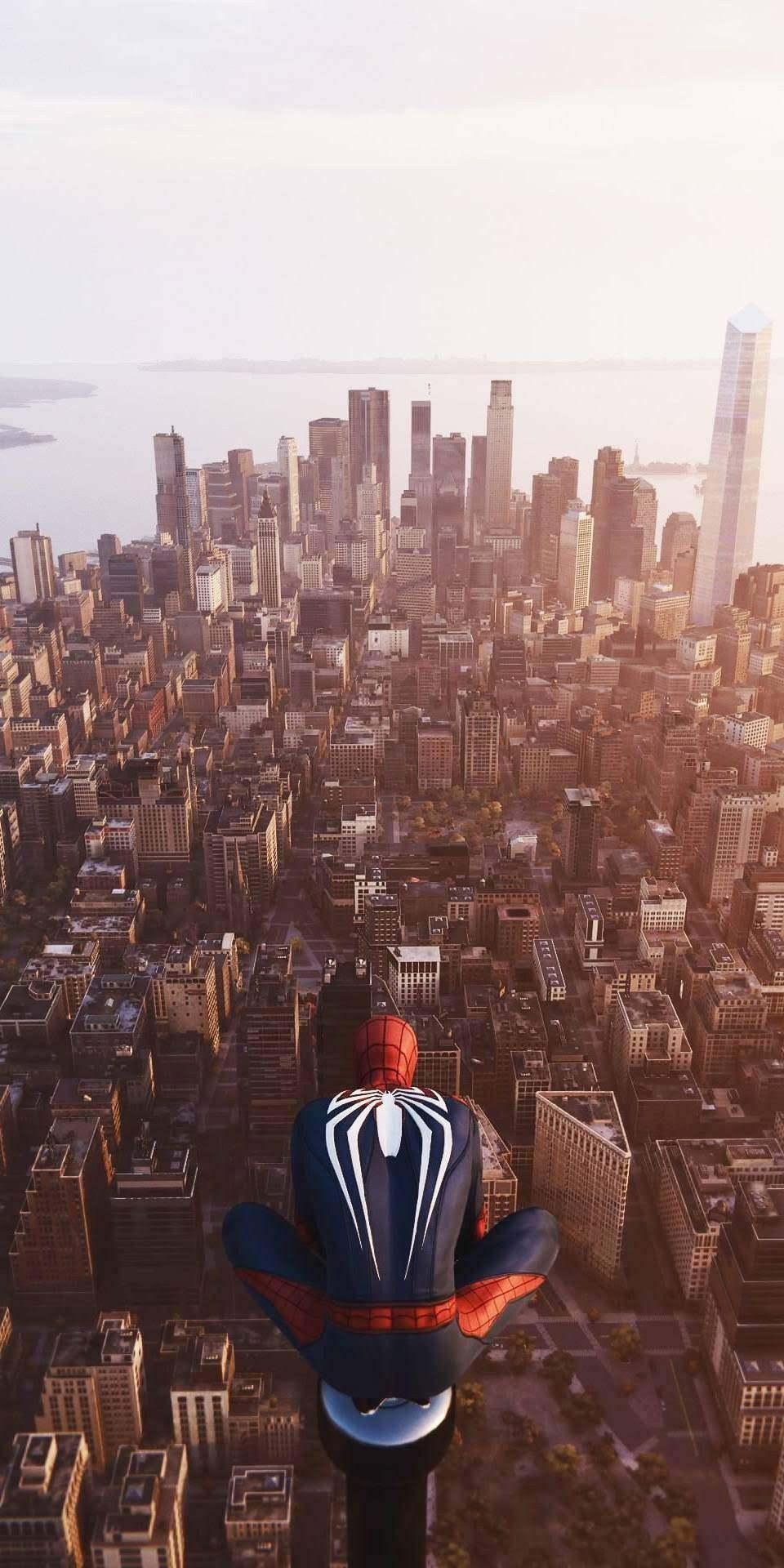 Spider Man in New York iPhone Wallpaper