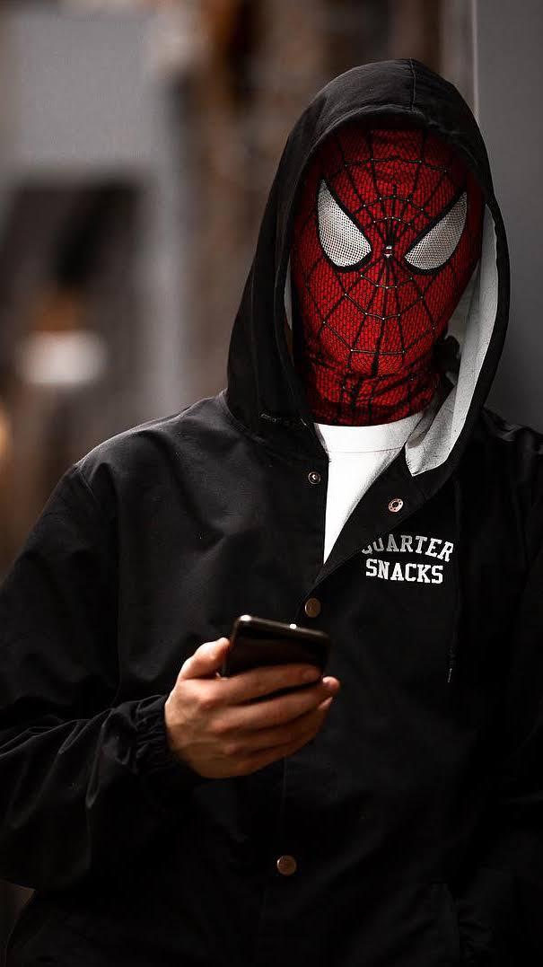 Spiderman hoodie iPhone Wallpaper