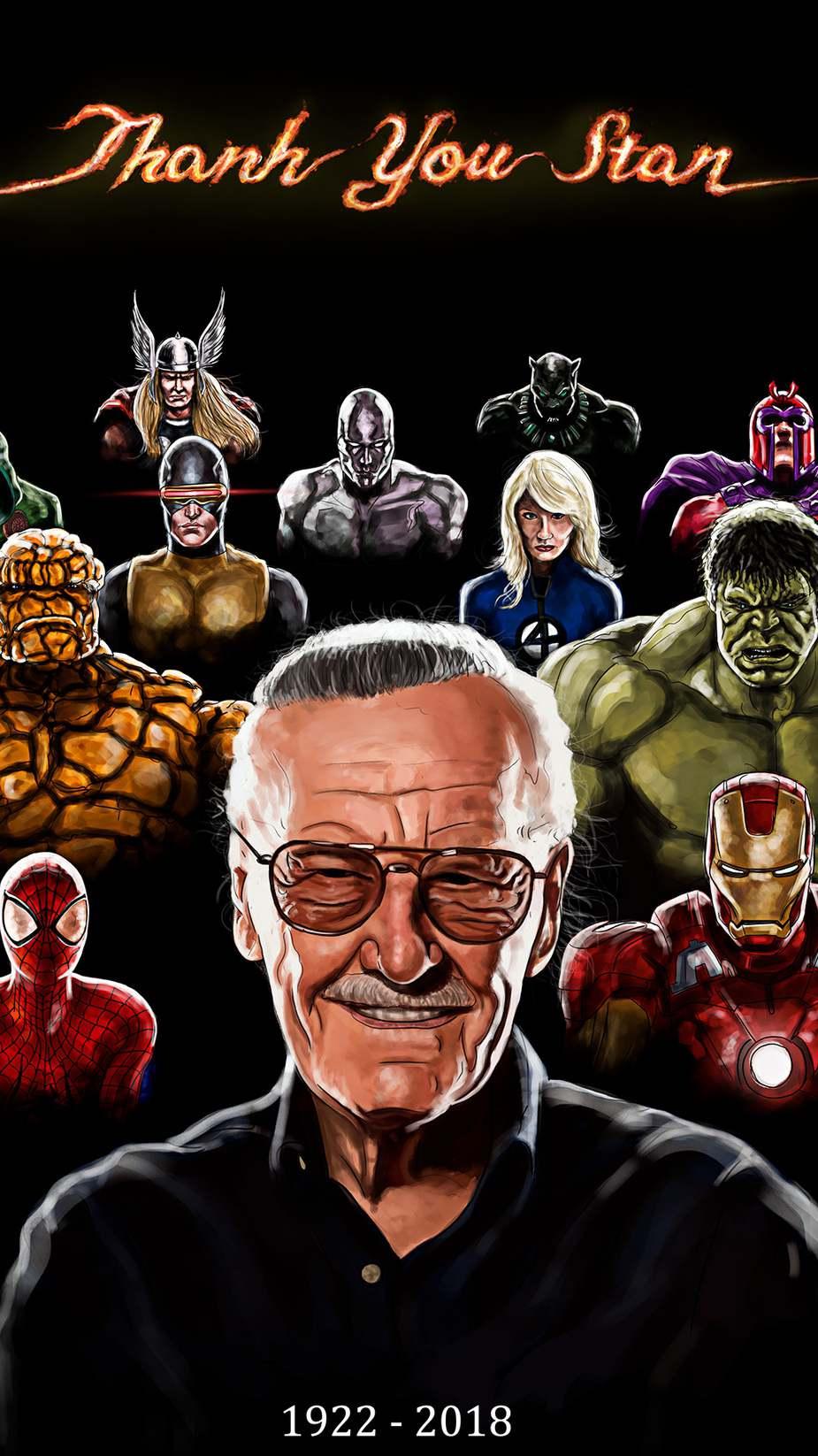 Stan Lee iPhone Wallpaper