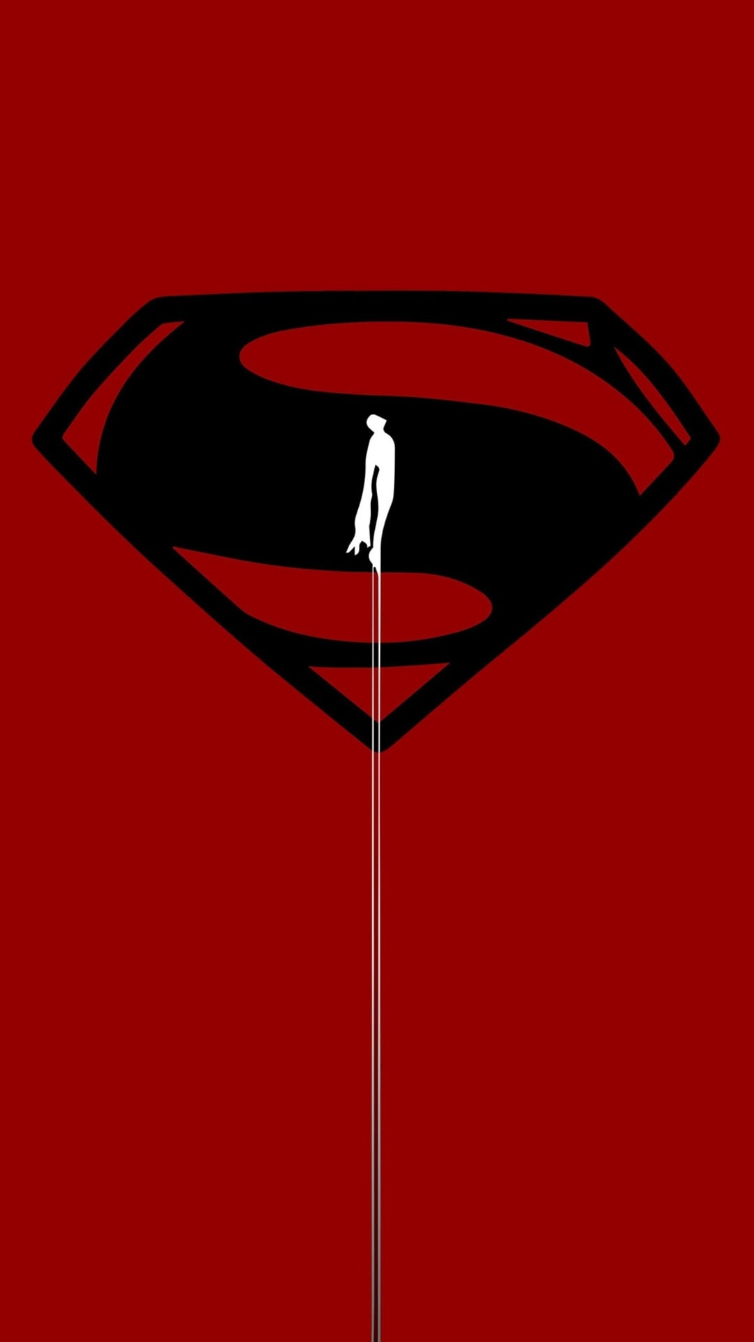 Superman Red iPhone Wallpaper