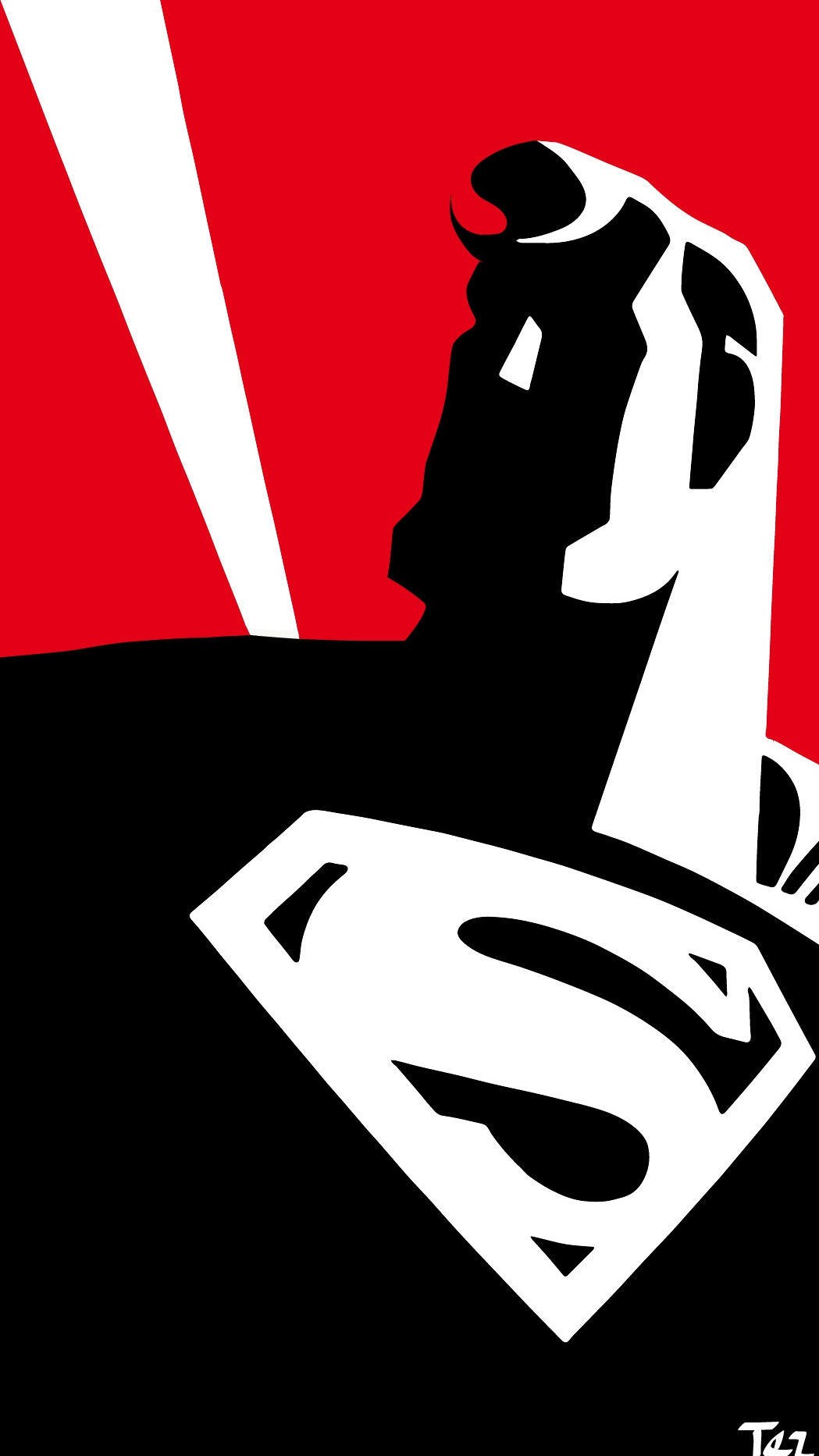 Superman Simple iPhone Wallpaper