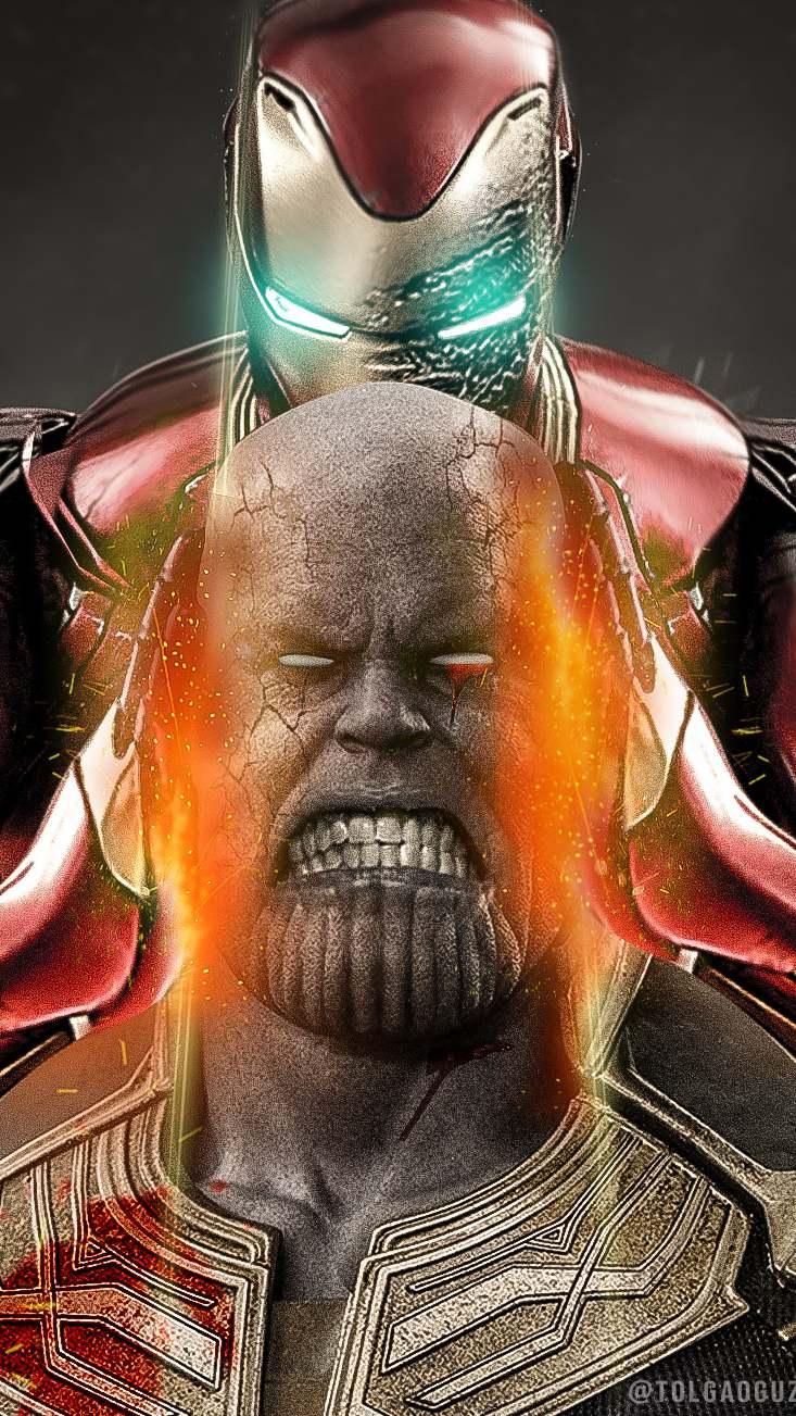 Thanos vs iron man Avengers Endgame iPhone Wallpaper