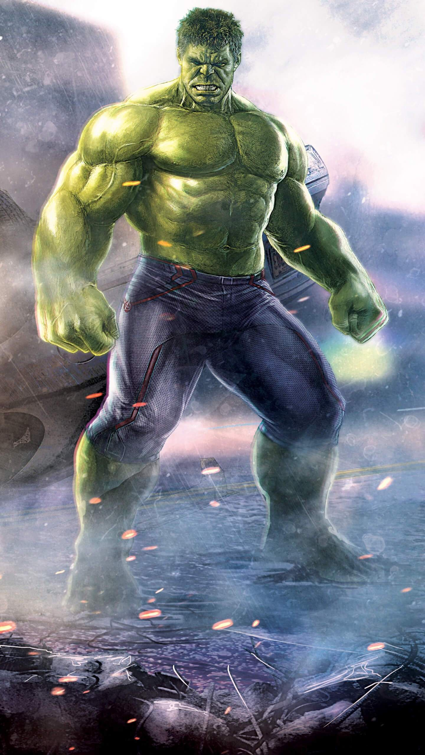 The Hulk Strongest Avenger iPhone Wallpaper