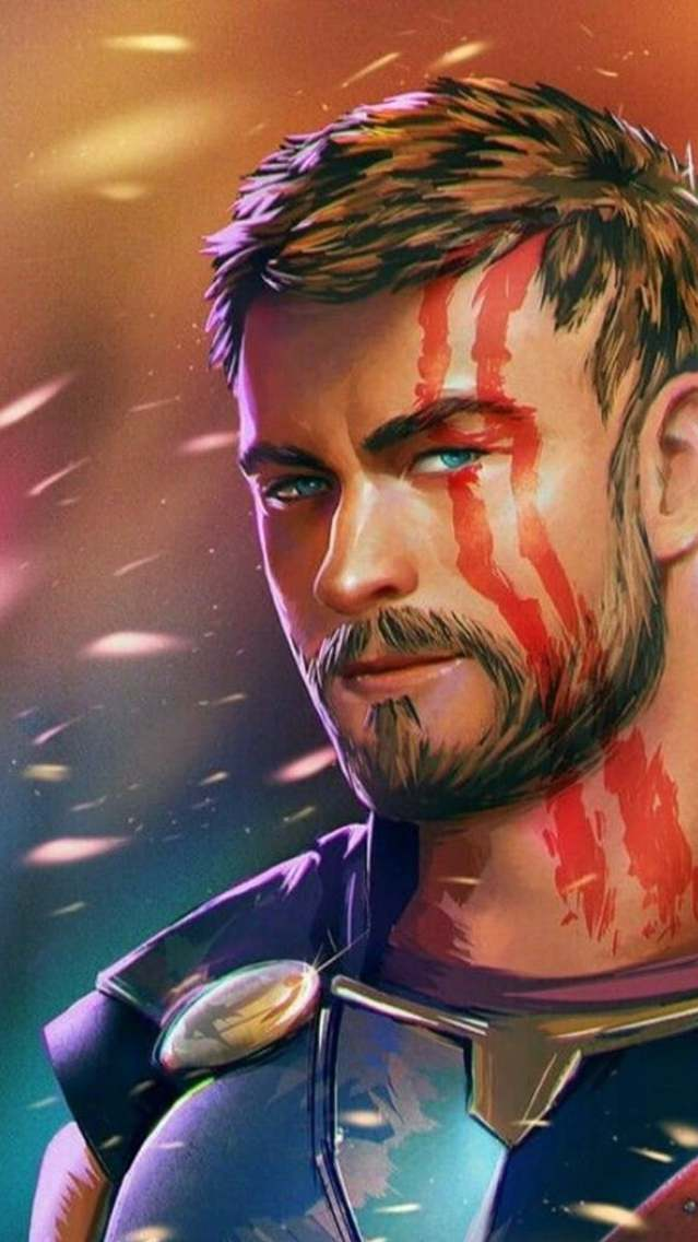 Thor Ragnarok Art iPhone Wallpaper