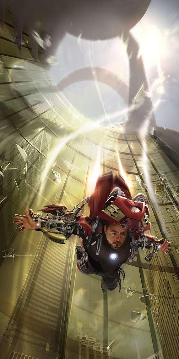 Tony Stark Armor iPhone Wallpaper